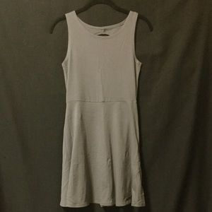 Ocean Drive Gray Skater Dress With Cut Out
